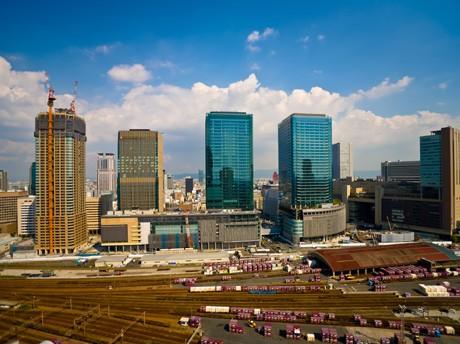 建設中のグランフロント大阪