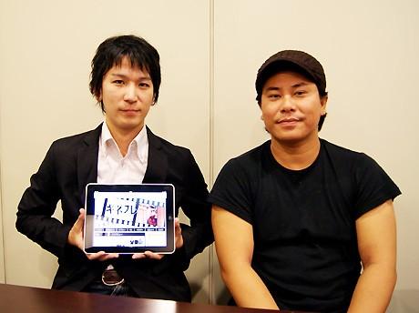 「キネプレ」編集長の森田和幸さん(左)とRECIPRO代表の大隈文顕さん