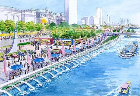 中之島公園将来像イメージパース