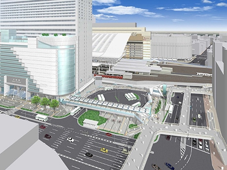 南広場東側の整備イメージ