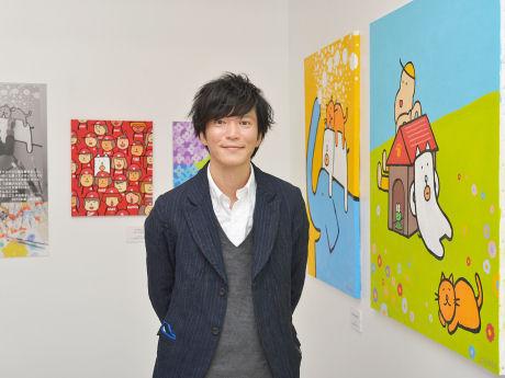 「かっこいい犬。」を描いた田辺誠一画伯