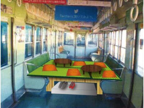 「中之島駅ホーム酒場」の車内イメージ
