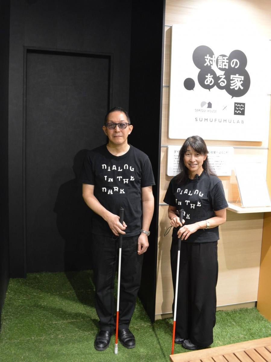 アテンド担当の矢部弘毅さんと辻岡恵子さん