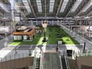 大阪駅「時空の広場」が緑一色に 全面に人工芝
