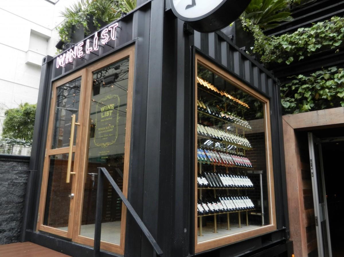 コンテナ型のワインセラー「ワインリスト堂島店」