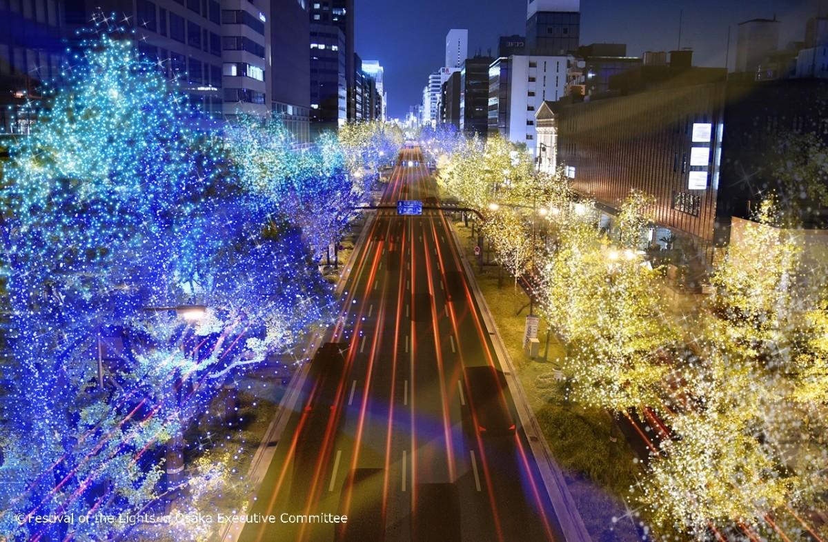 御堂筋イルミネーション2018 イメージ画像(C)大阪・光の饗宴実行委員会