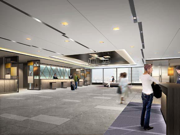 新たに19階へ移るフロント(イメージ)