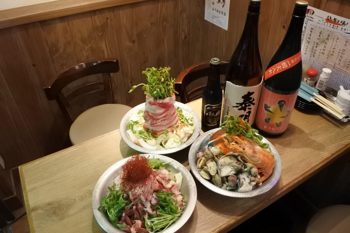 梅田の居酒屋で酒を使った鍋料理「酒鍋」 ビールや焼酎など
