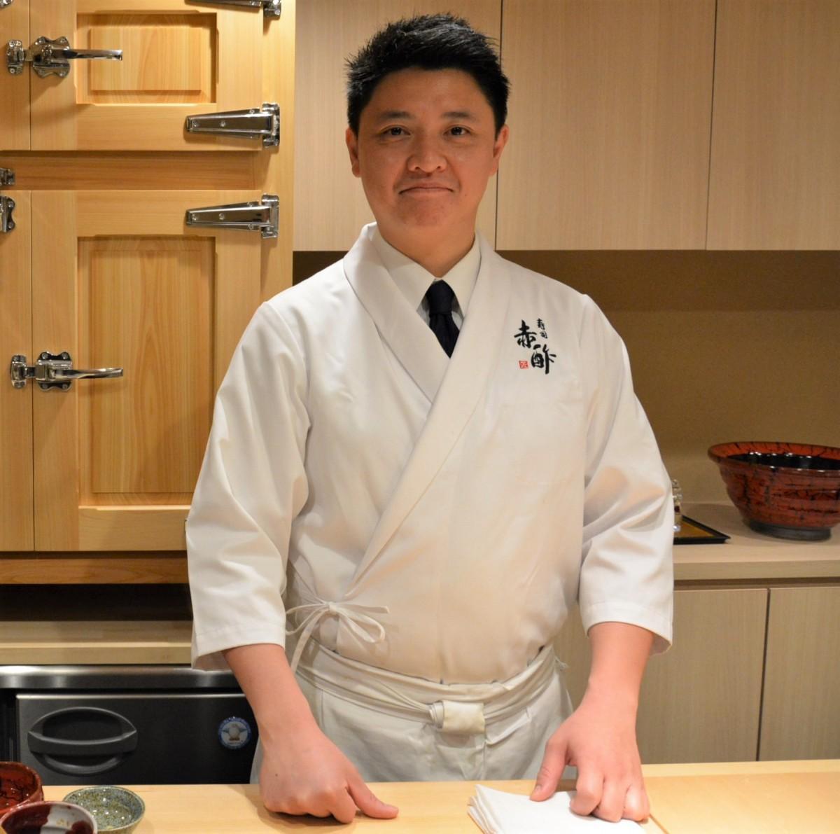 「寿司 赤酢」の望月智仁大将