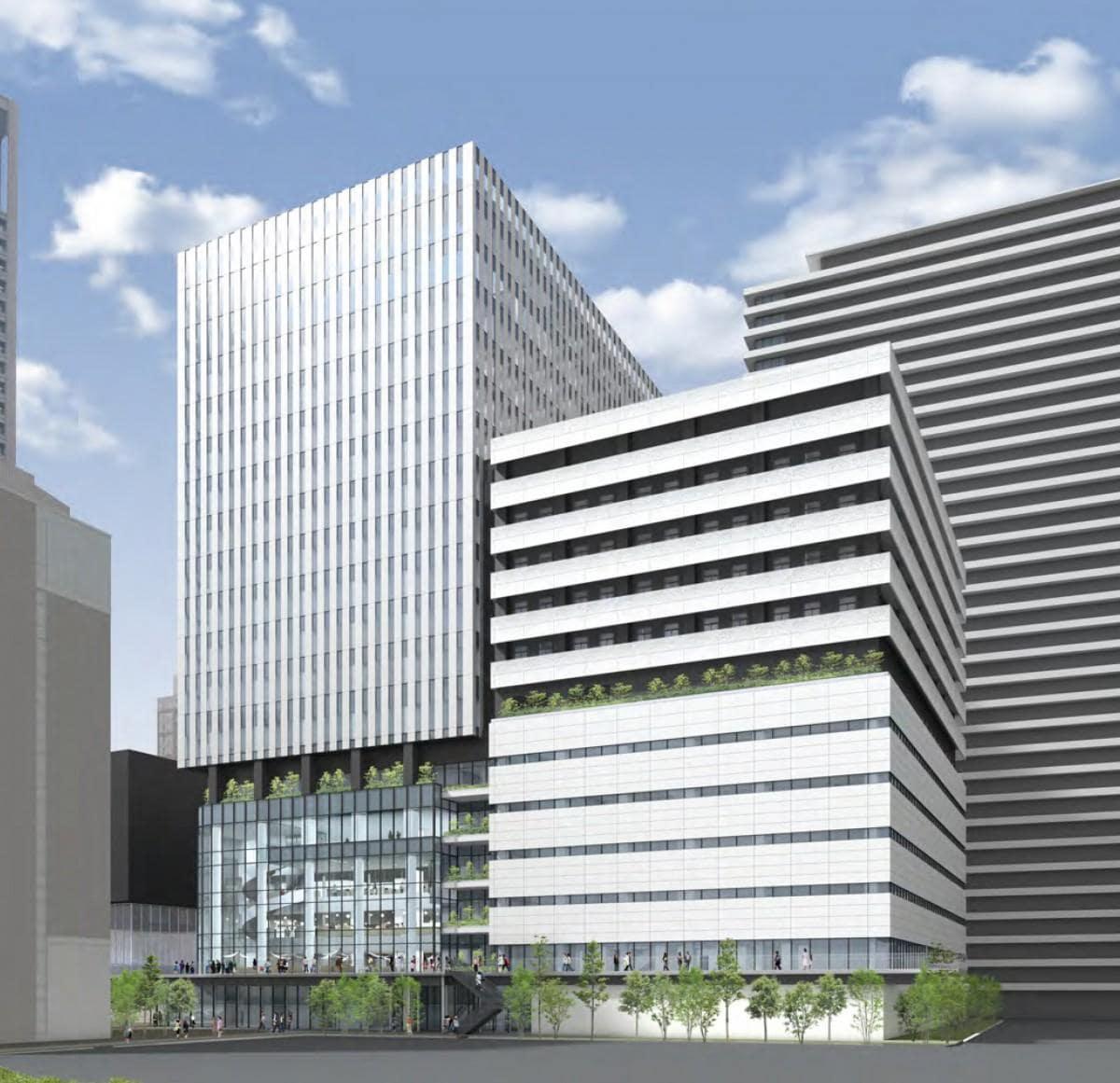 「中之島4丁目未来医療国際拠点」外観(イメージ)