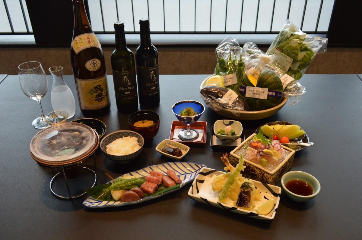 大阪産食材を使った「なにわ会席」