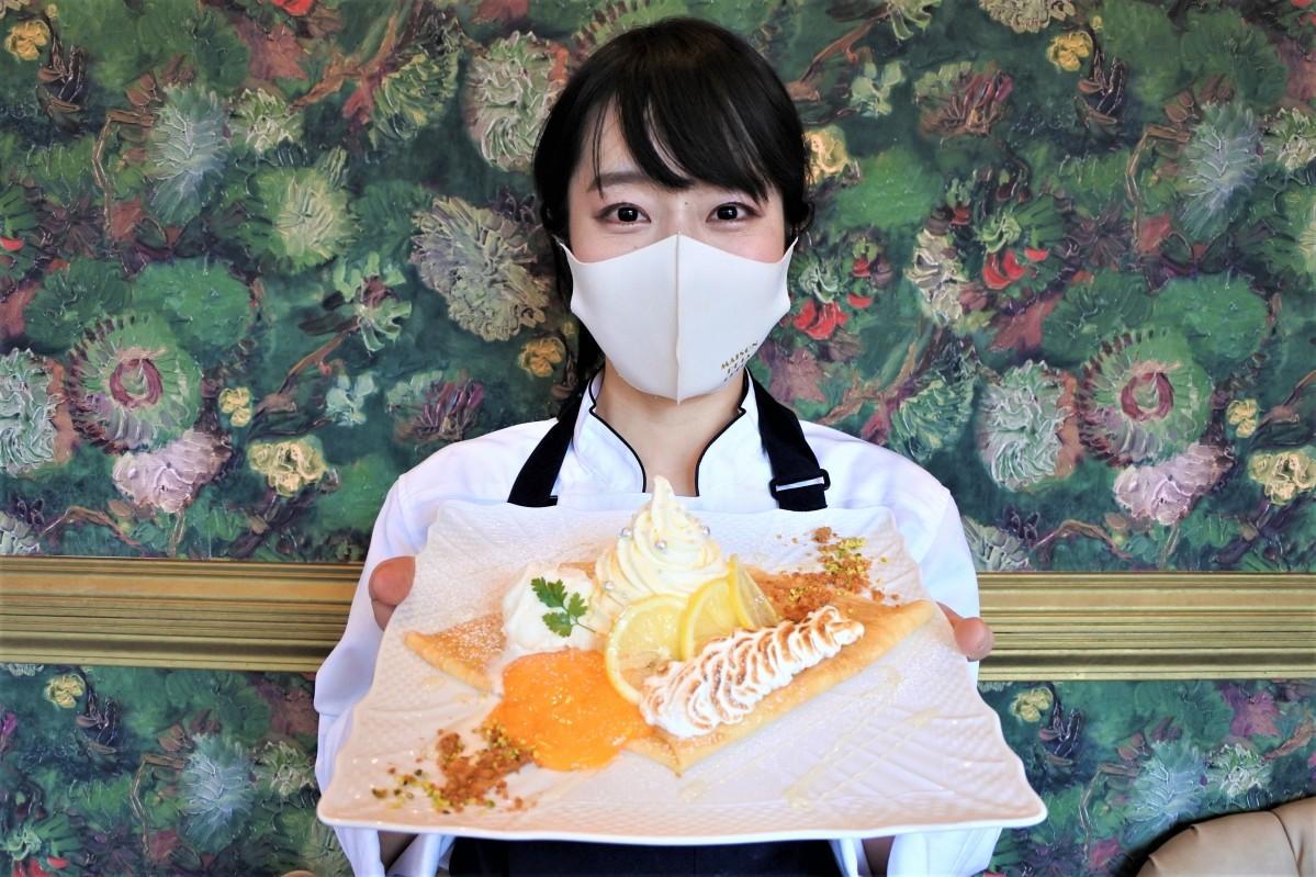 レモンパイをイメージしたクレープ「シトロン」