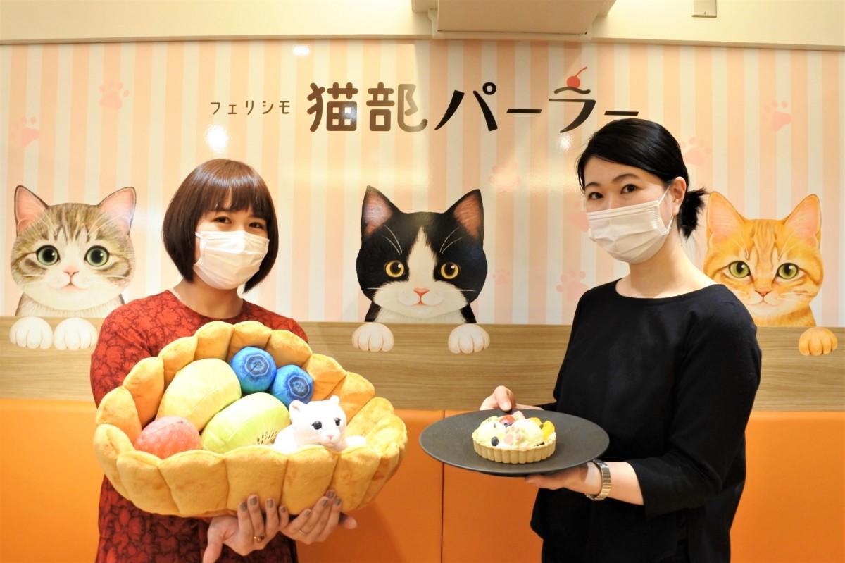 「猫部」人気商品のクッションをスイーツで再現