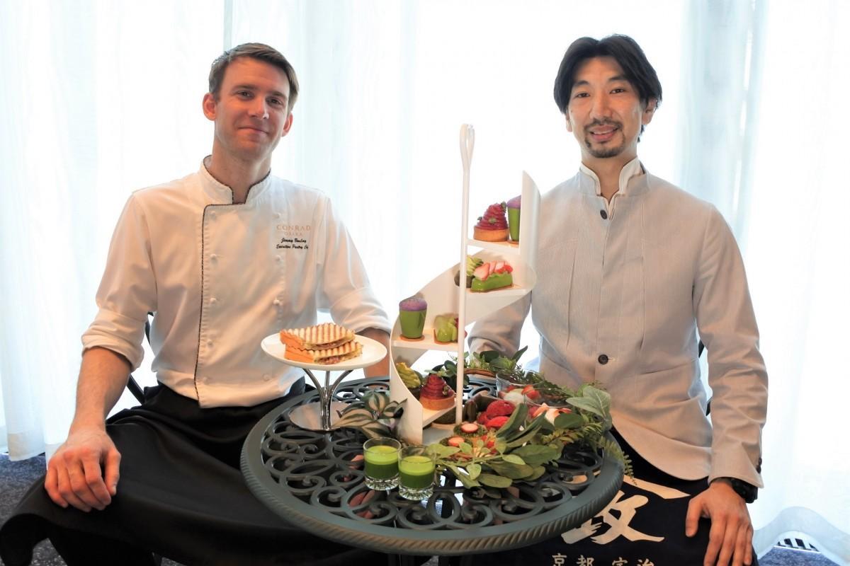 ジミー・ブーレイさん(左)と小山雅由さん(右)