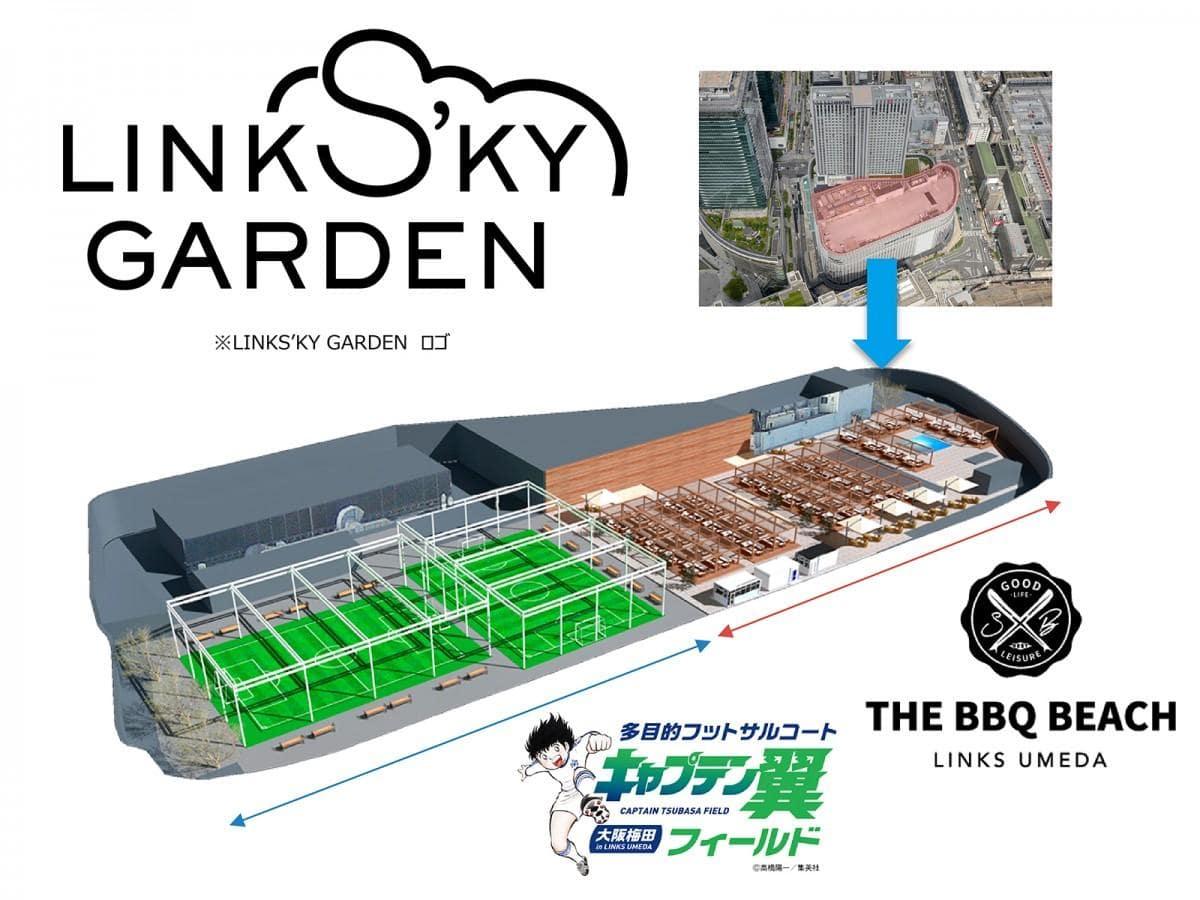 リンクス梅田屋上にオープンする「LINKS'KY GARDEN」