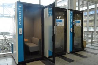 JR大阪駅に個室型ワークブース「テレキューブ」 駅に「第3の仕事場」提案