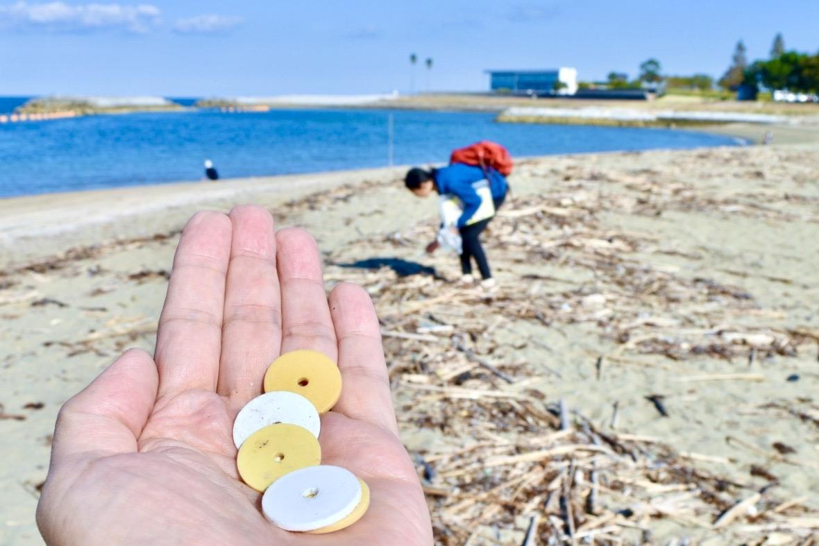 大分市の田ノ浦ビーチに漂着した海洋ゴミ
