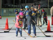 武蔵浦和で「スケートフェスティバル」 市民がソリレースやアイスホッケー体験