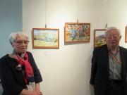 浦和駅前コムナーレで高齢者の水彩画展示 風景や植物描いた50点