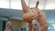 プラザウエストで川埜龍三さん作品展示 さいたまトリエンナーレ出品作品
