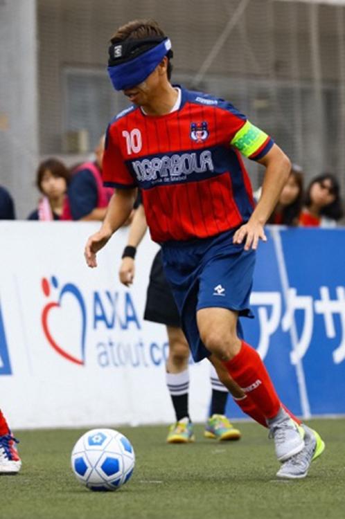 視覚障がい者の加藤健人選手