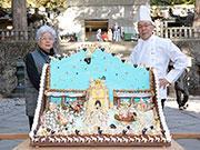 日光東照宮に大ケーキ奉納-宇都宮の和洋菓子店、今年で51回目