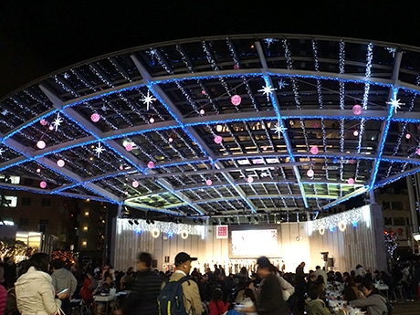 宇都宮で中心街イルミネーション点灯式 ボージョレ解禁のワインイベントも
