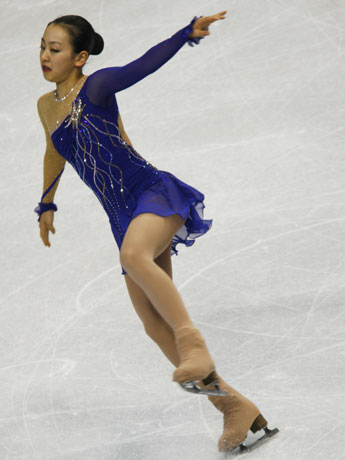女子SPで浅田真央選手は6位と出遅れた。撮影:Shugo Takemi