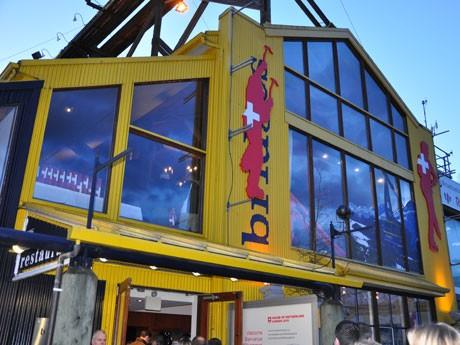 バンクーバーのグランビル・アイランドにオリンピック開催期間限定の「スイス館」が開設された。28日まで。