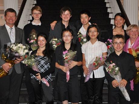 Hycroftで8月23日、ドイツのクララ・シューマン音楽学校の生徒8人によるピアノ演奏会が開催された。