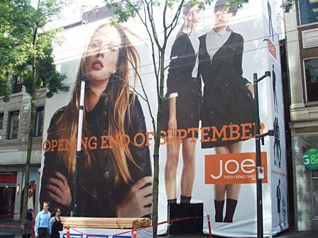 リーズナブルな価格で知られるファッションブランド「Joe Fresh Style」がBC州初の路面店オープンを予定している。
