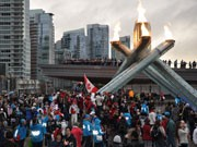 「バンクーバー冬季五輪」1周年-聖火台や市内各所で祝賀イベント
