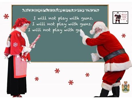 アボツフォード警察が再犯歴のある人宛てに送った「改心を勧める」今年のクリスマスカード 写真提供:Abbotsford Police Department