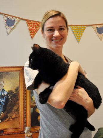 猫カフェ「Catfe」オーナーのMichelle Furbacherさん