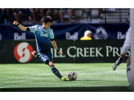 工藤選手がMLS初ゴールを決めた 写真提供:Vancouver Whitecaps