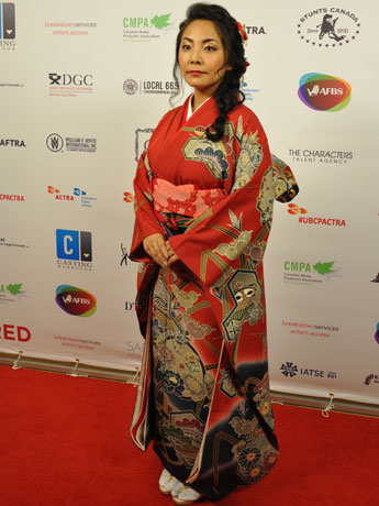 BC州俳優組合アワードで新進俳優賞にノミネートされた日本人女優、吉田真由美さん