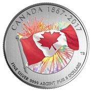 カナダ造幣局が建国150周年記念硬貨発売 暗闇で光る花火のデザイン