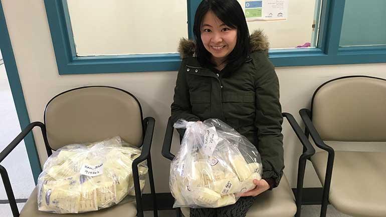 3万4000ミリリットルを超える大量の母乳を寄付したジェニー・カンさん(写真提供=Fraser Health)