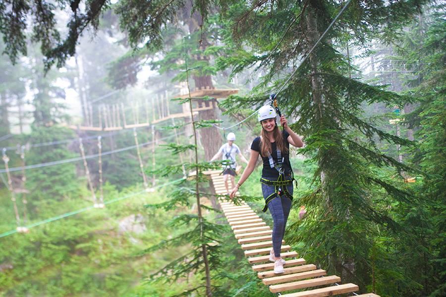 新アトラクション施設「マウンテン・ロープアドベンチャー(Mountain Ropes Adventure)」