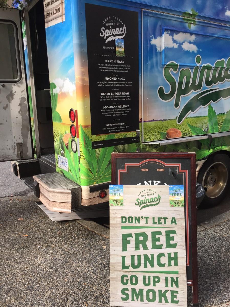 大麻生産業者によるプロモ用フードトラック