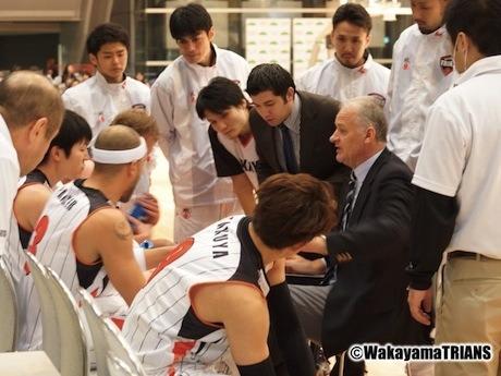 今月25日から、アウェーで東芝ブレイブサンダース神奈川との試合に臨む和歌山トライアンズ(写真提供=和歌山トライアンズ)