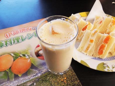 伊都地方の柿を使った柿ミルクとレシピ集