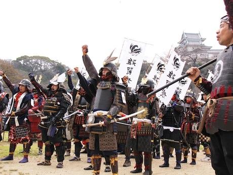 和歌山城に集結した雑賀衆の武者行列