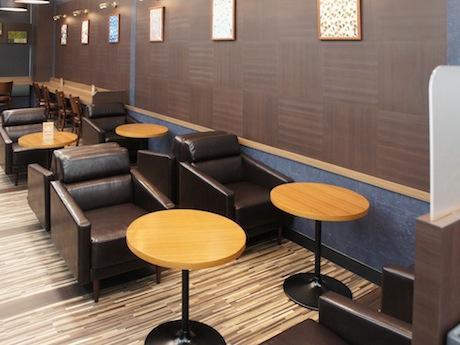 店内に新設されたカフェテリアスペース