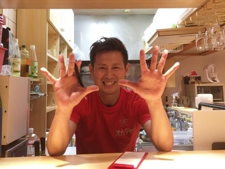 「いちばん高いメニューでも500円。気軽に食べにきてほしい」と店主の岡田博之さん