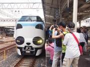 JR京都駅~新宮駅間に特急「パンダくろしお」 見物客も笑顔に