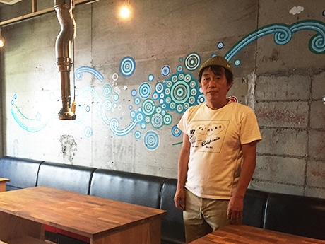 三浦さんとまつおさんが描いた壁画