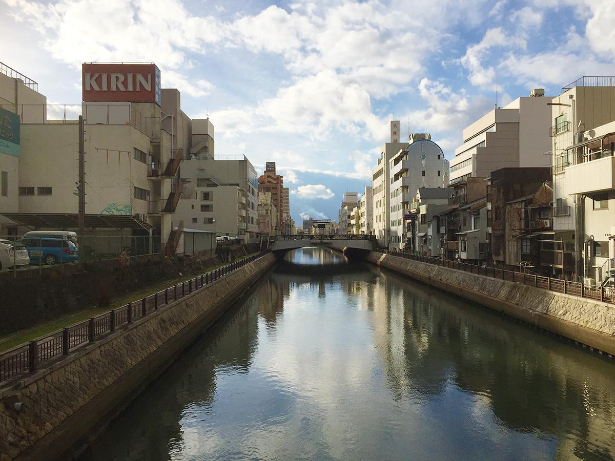 和歌山市の中心部を流れる市堀川