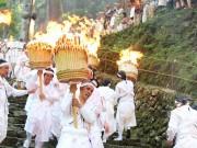 和歌山・熊野那智大社で例祭「扇祭り」 無形文化遺産「那智の田楽」奉納も