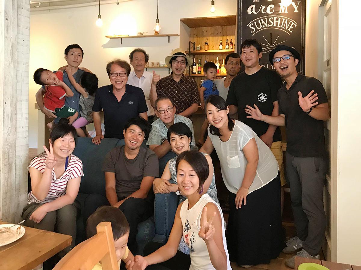 7月29日に美浜町で開催された事前講演会後の懇親会の様子